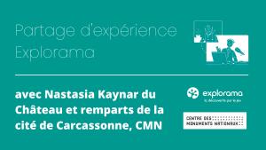 Image interview avec Nastasia Kaynar de la Cité de Carcassonne